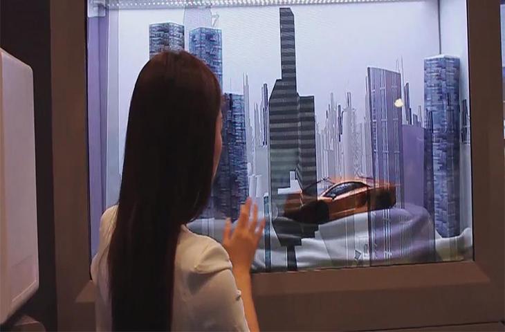 汽车展览透明屏