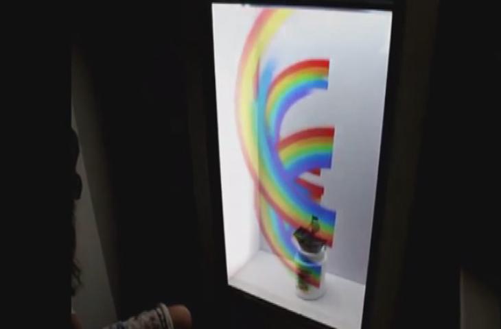 博物馆透明屏
