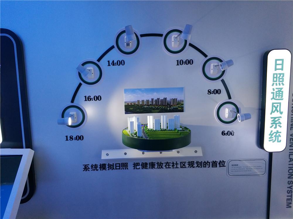 碧桂园数字展厅光照模拟